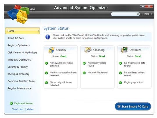 Advanced System Optimizer 3.9.3800.18406 Crack + License Key 2022 Latest
